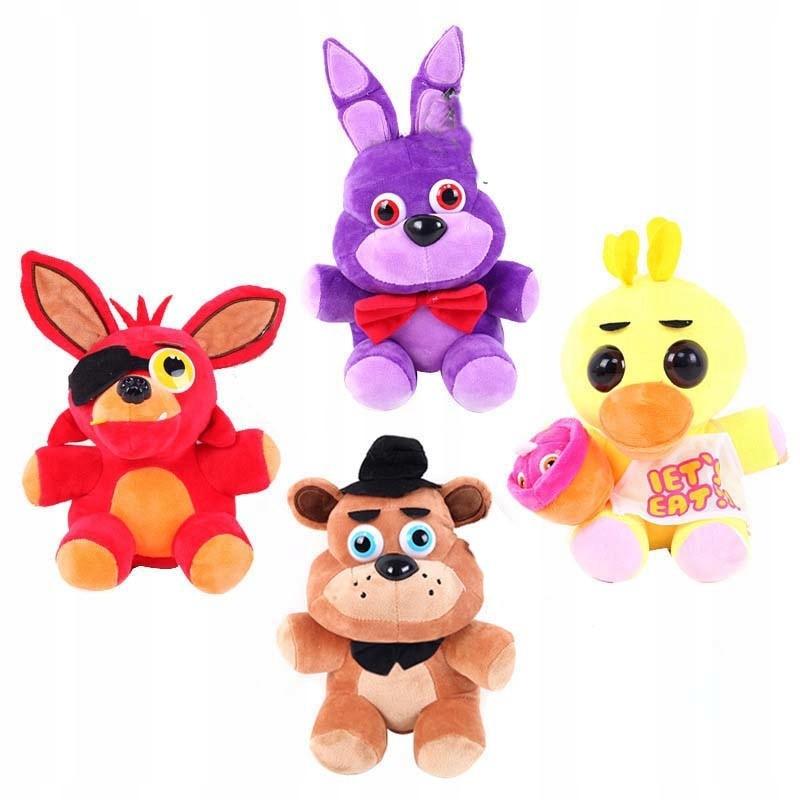 Sada 4 kusov maskota FNAF FOXY BONNIE FREDDY
