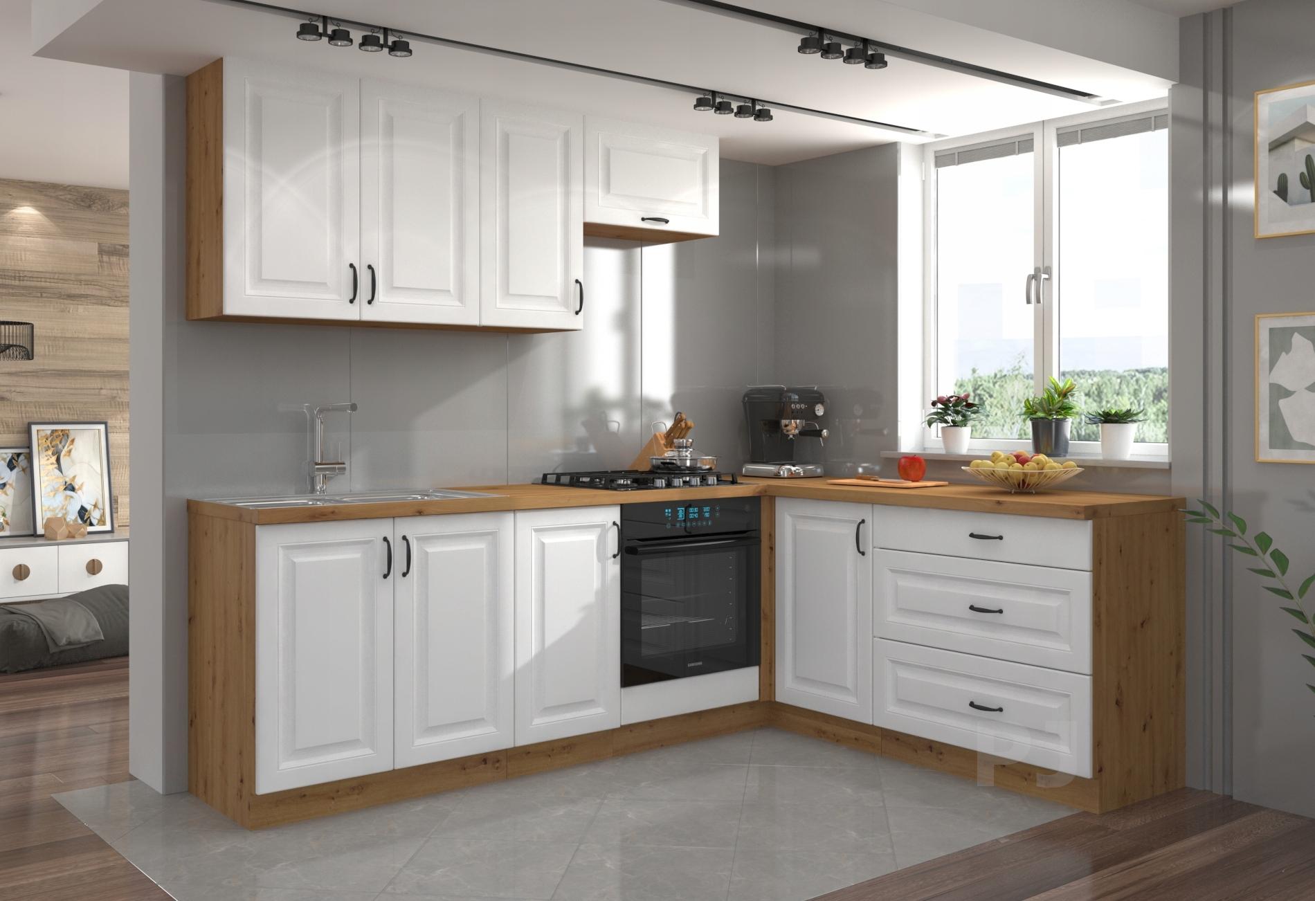 Kuchnia STILO białe / meble kuchenne narożne