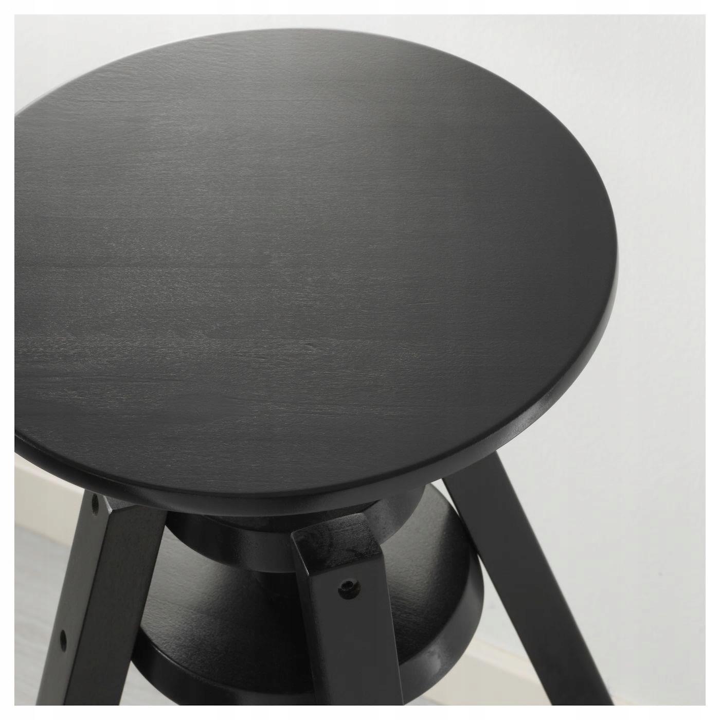 IKEA DALFRED Stołek barowy czarny 63 74 cm