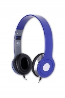 Stereofoniczne słuchawki z mikrofonem CITY BLUE