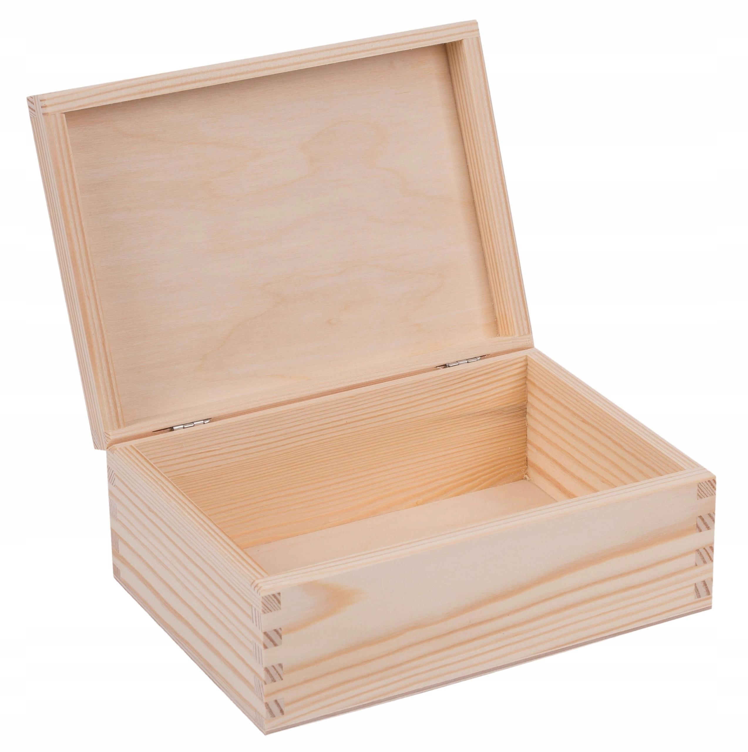 SZKATUŁKA PUDEŁKO drewniane 22x16cm decoupage