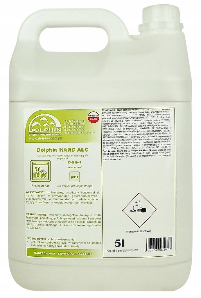 DOLPHIN HARD ALC стиральная жидкость в посудомоечных машинах 5L