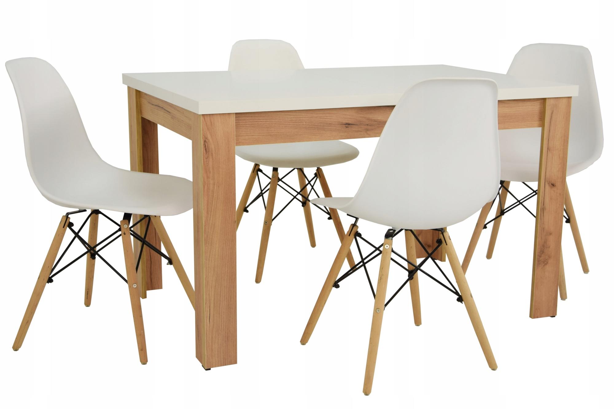 Складной стол OAK CRAFT и 4 СКАНДИНАВСКИХ стула