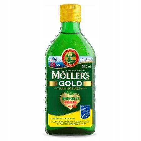 Mollers Tran Norweski Gold w płynie 250 ml