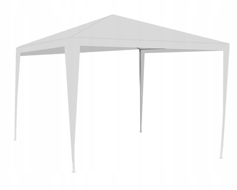 Obchodný stan Záhradný pavilón + 3 steny 3x3m Farba: biela