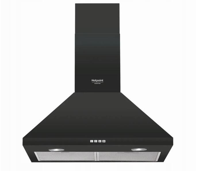 Vetranie kapota HOTPOINT HHPC 6.5 F AM K Black 603m/3h RETRO