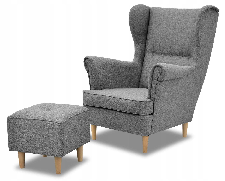 Кресло Uszak Скандинавское кресло Denver с подставкой для ног