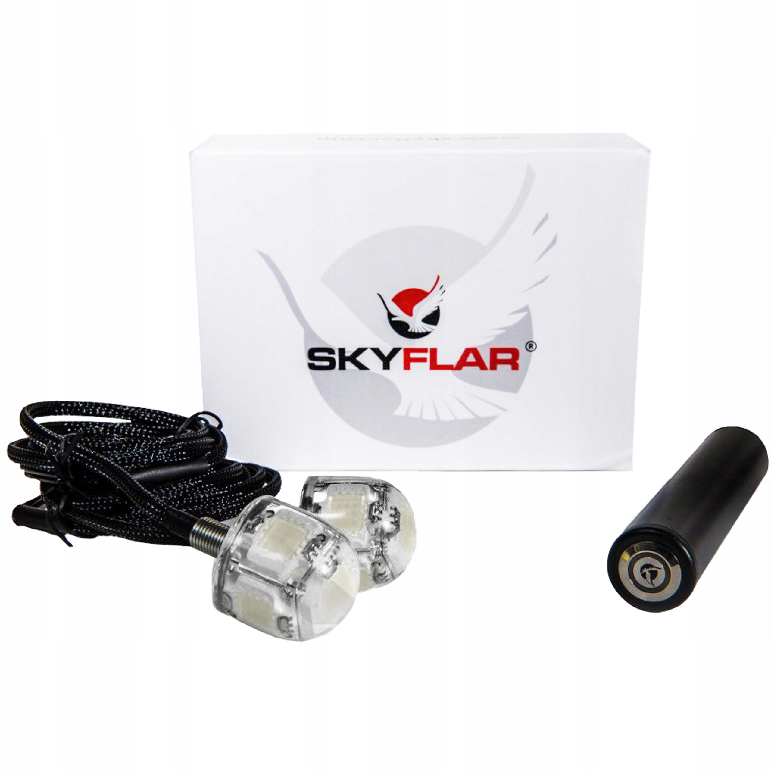 Double Flash LED Skyflar St-202 červená / červená