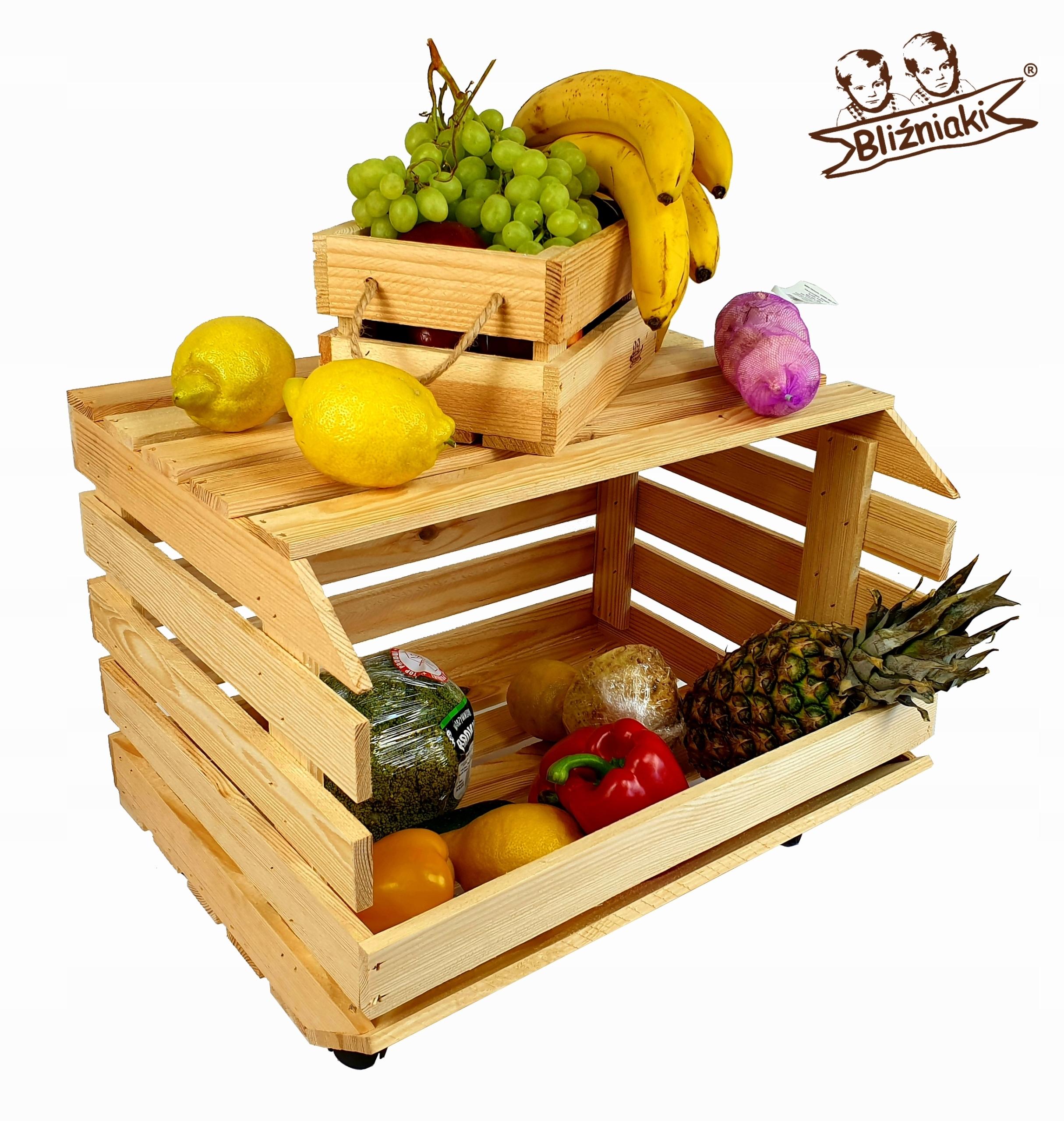 Drevený box na zeleninu, ovocie + kvetináč