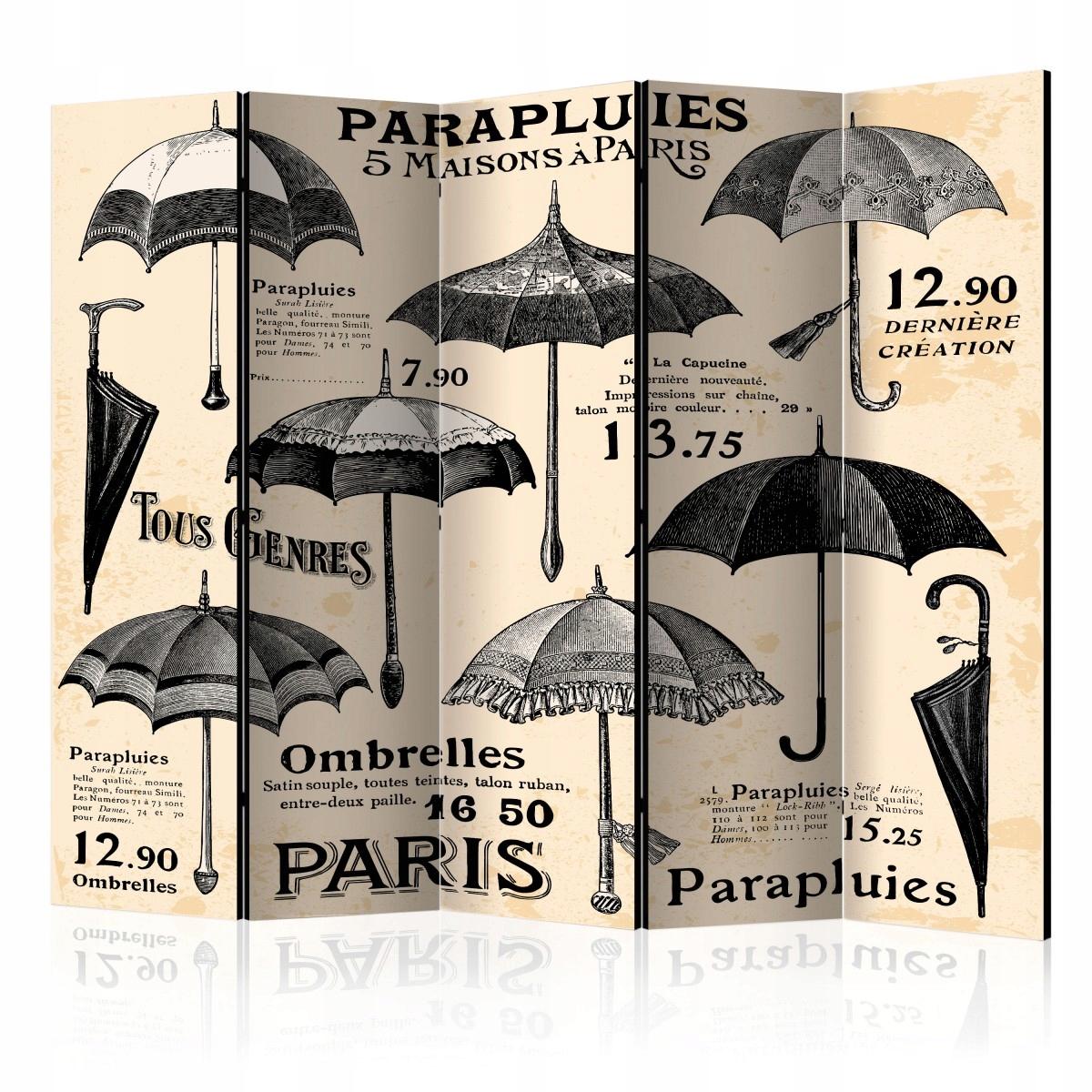 Clona na šatne retro dáždniky
