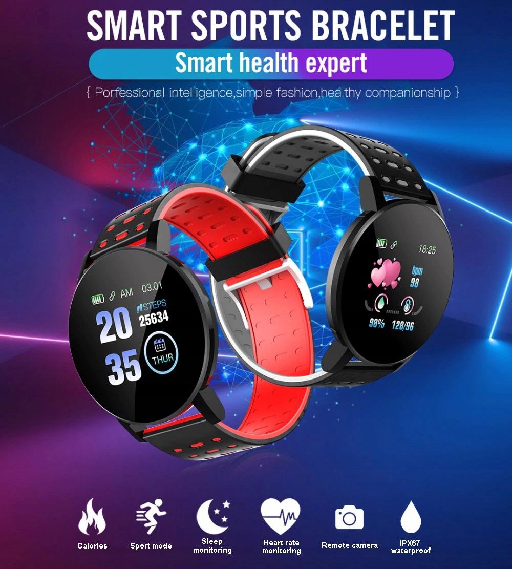 Zegarek Smartwatch Bluetooth 16w1 kroki puls cykl Lokalizator GPS brak informacji
