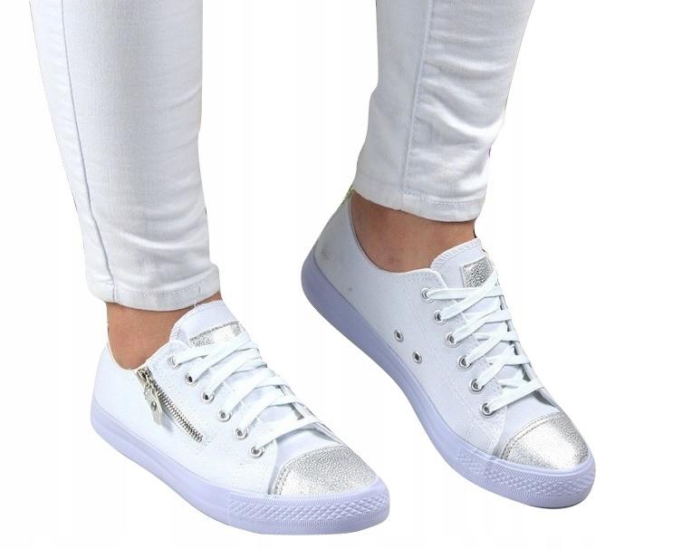 Белые кроссовки Кроссовки Silver Nose Zipper