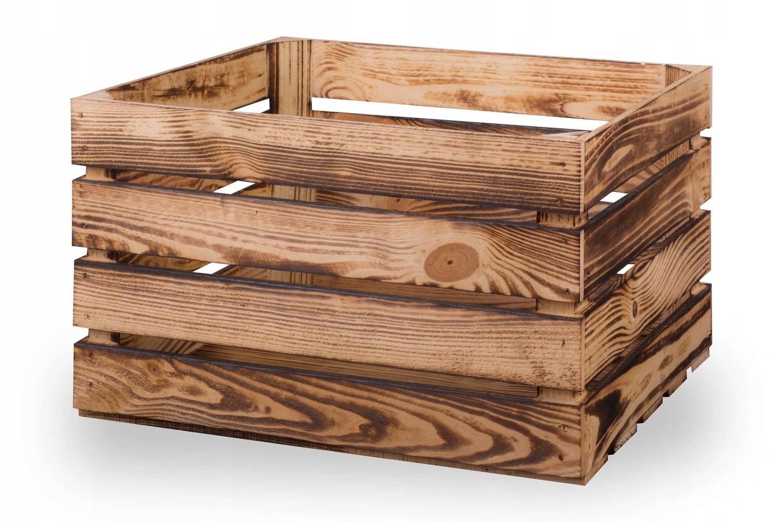 Ящики деревянные обожженные, ящик 50х40х30