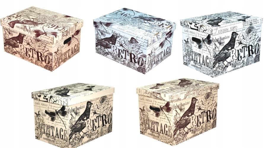 Dekoratívna kartónová krabica 320x250x185 VINTAGE RETRO