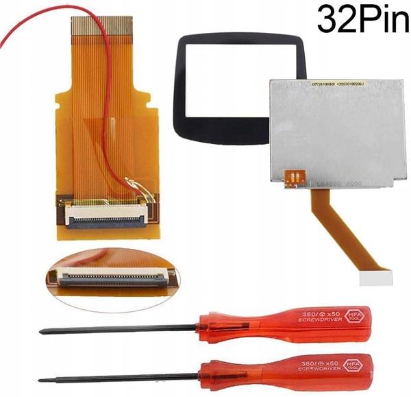 32-pinová súprava na opravu LCD pre GBA SP