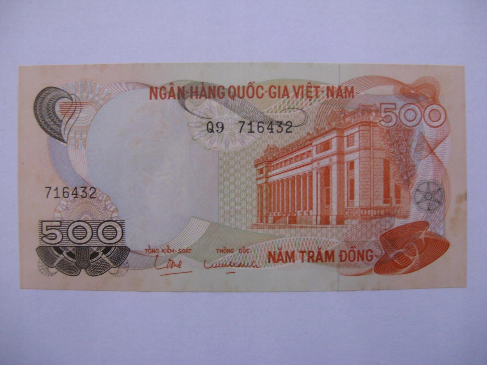 Южный Вьетнам - 500 донгов - 1970 - P28-St.1 / 1-