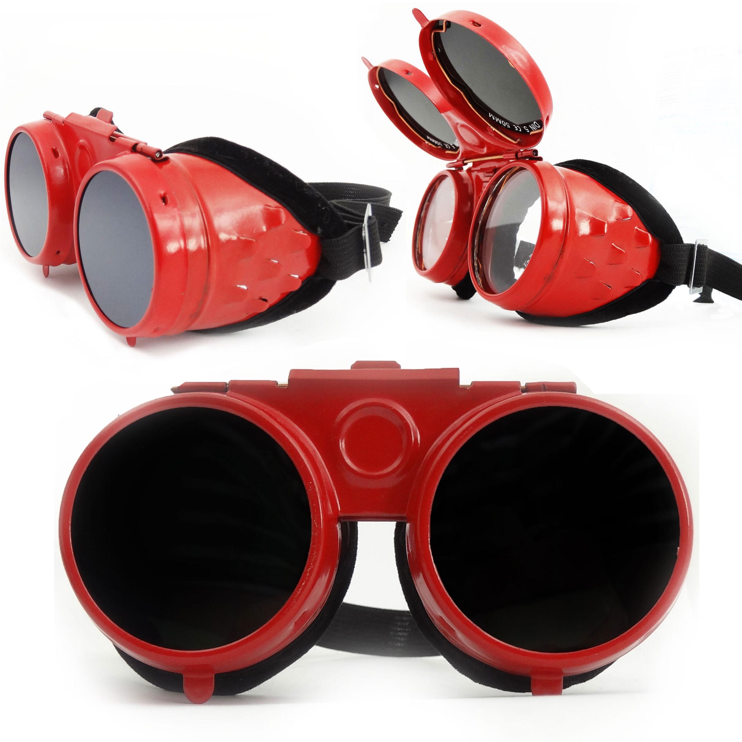 Сварочные очки металлические опрокидывающиеся очки