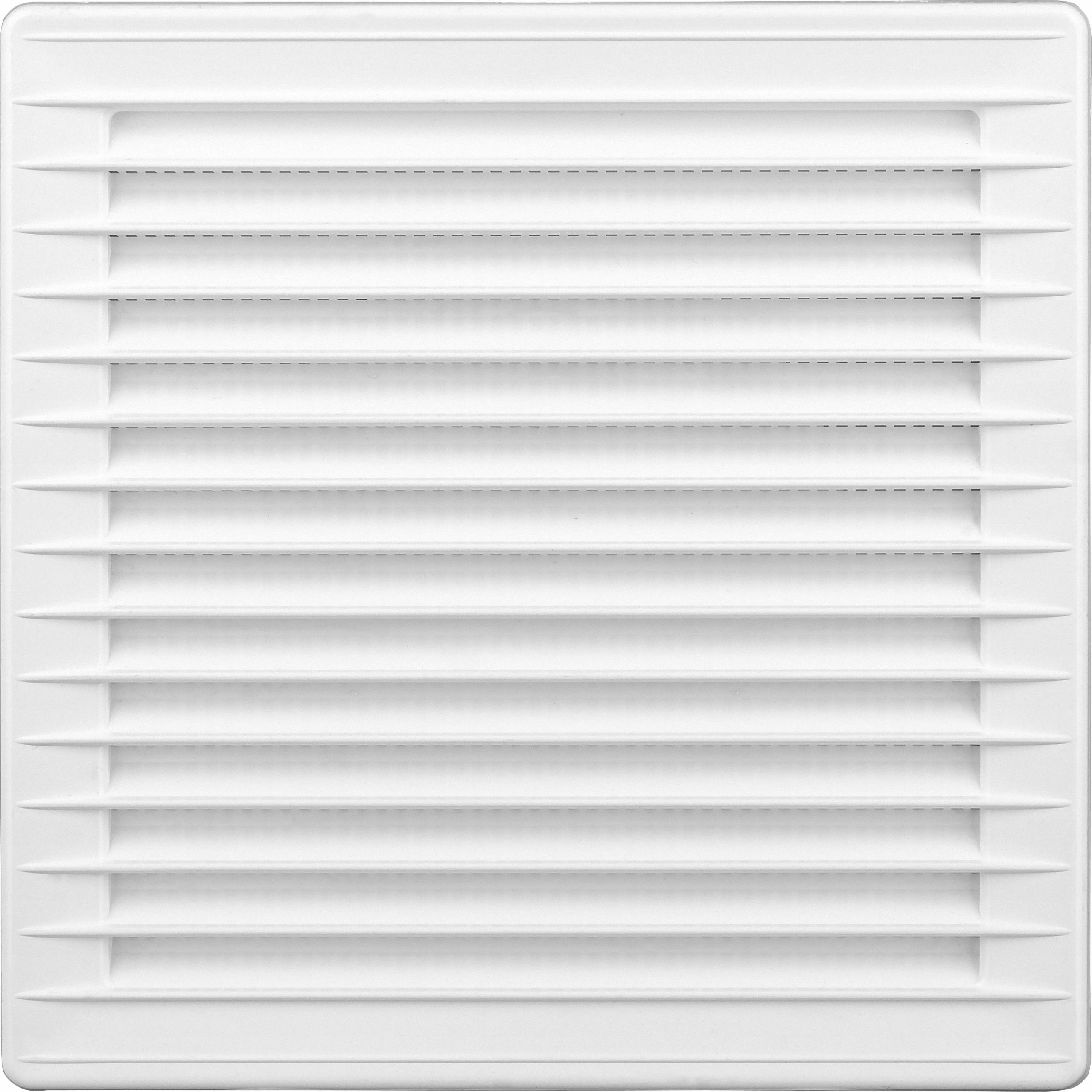 Kratka wentylacyjna kwadrat 14x14 z siatką biała