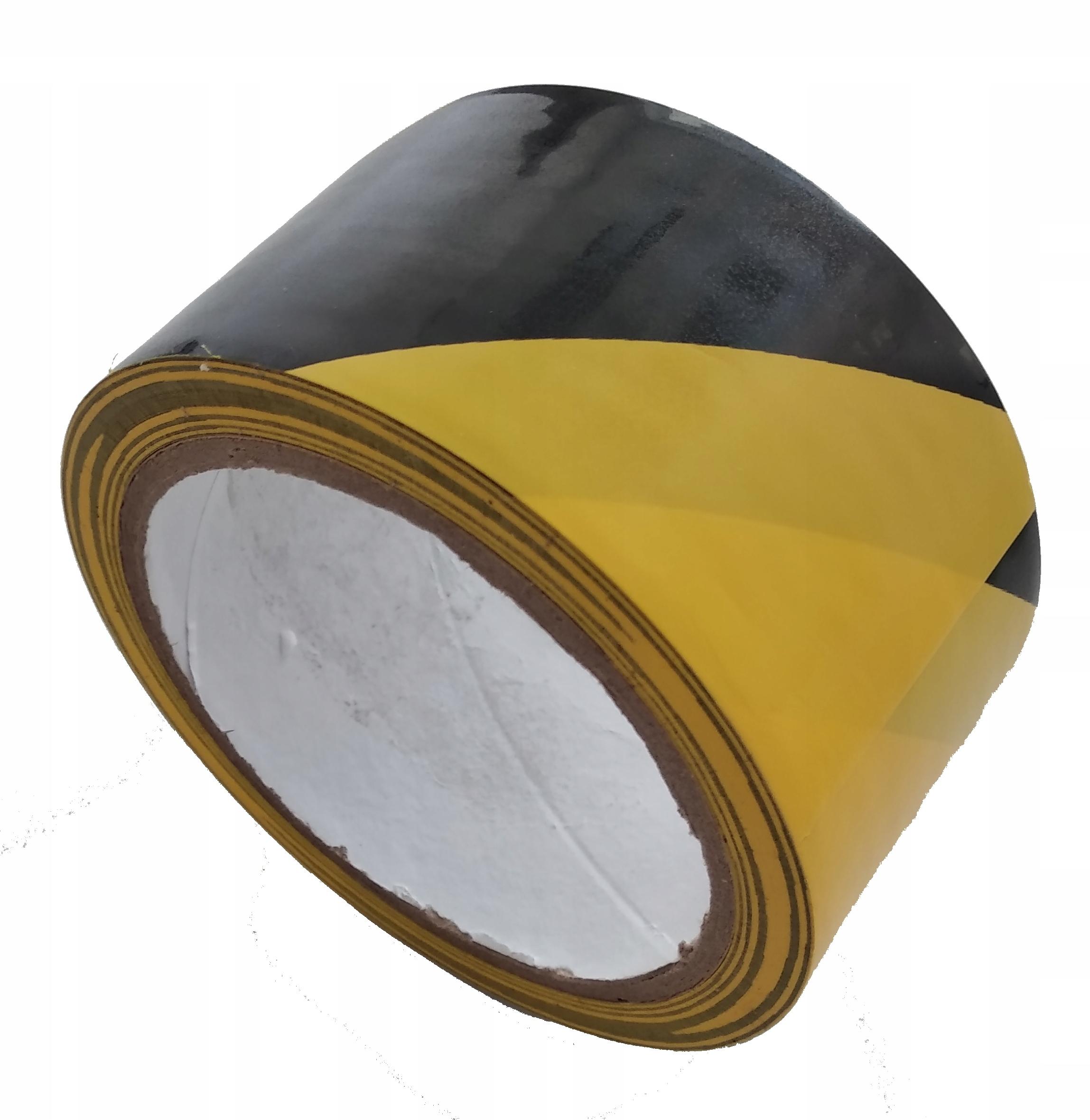 Черно-желтая клейкая лента
