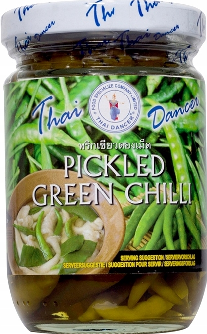 Ostre Papryczki Chilli Chili Zielone 200g Tajskie