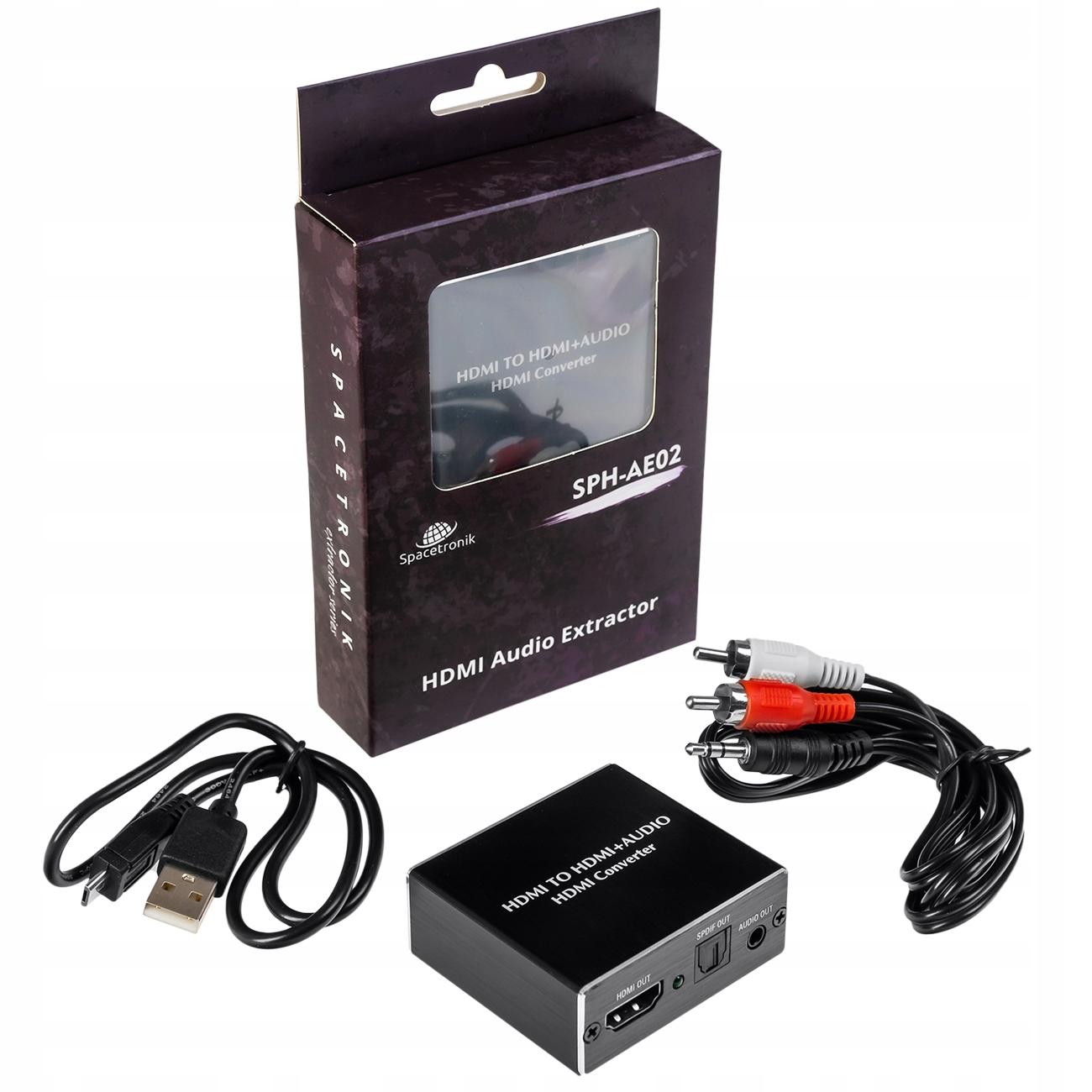 Extractor HDMI + Audio SPDiF / Jack 3,5mm SPH-AE02 Kod producenta Extractor HDMI + Audio SPDiF / Jack 3,5mm SPH-AE02