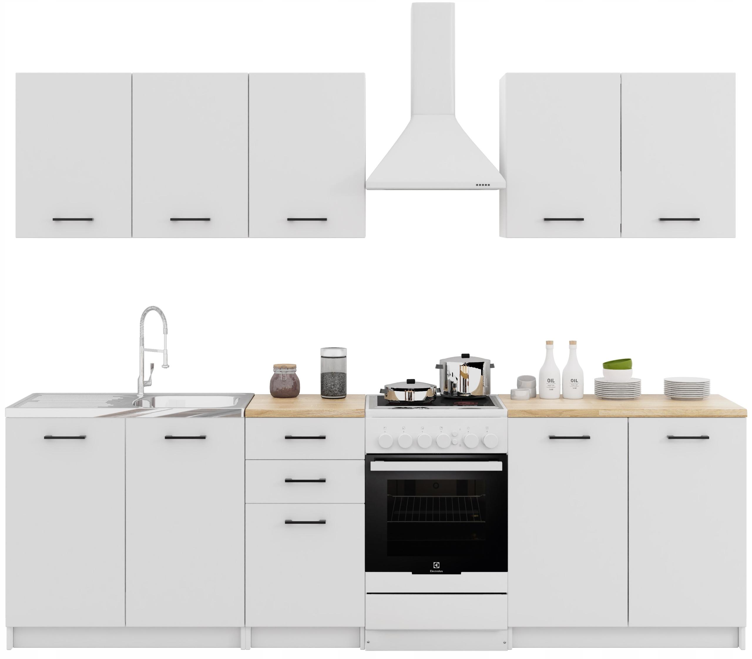 Zostava kuchynského nábytku s doskami Kitchen Biel Mat