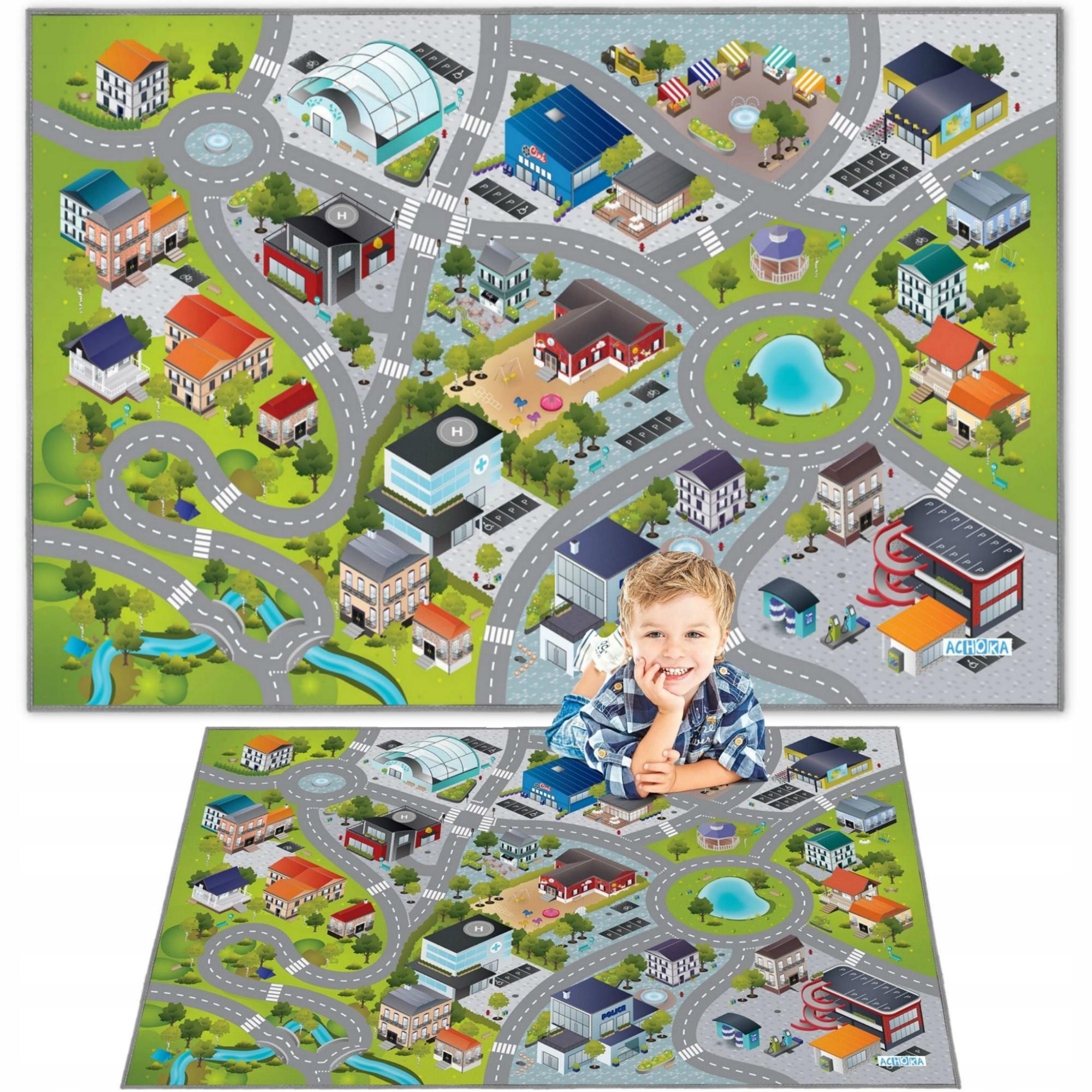 КОВРИК CITY STREETS ROAD 3D EFFECT 100x150 CM