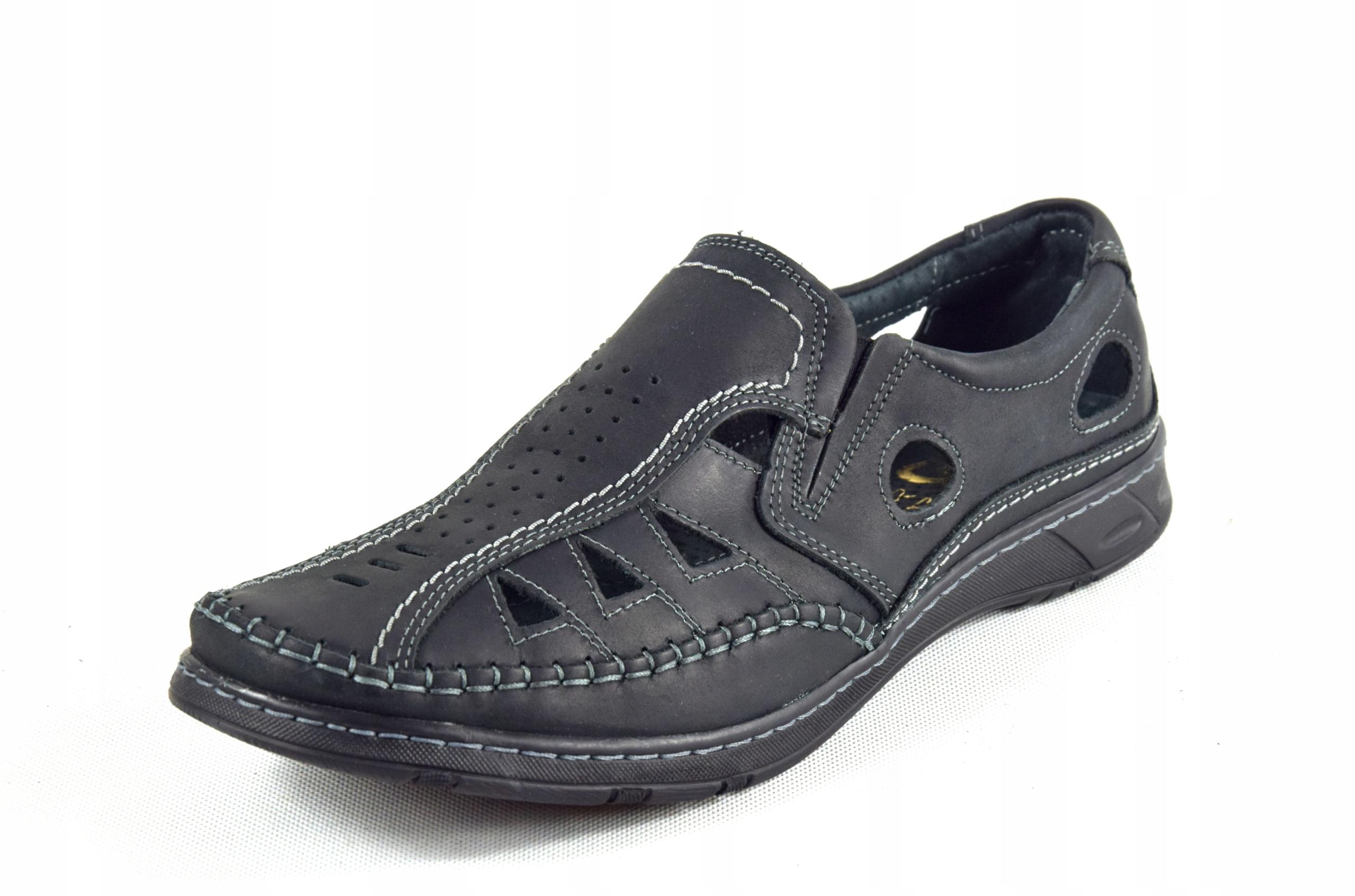 Męskie buty skórzane polskie mokasyny skóra 0270CC Marka inna
