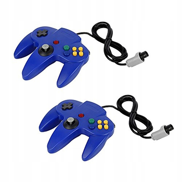 2ks ovládač Retro Nintendo 64 N64, modrý