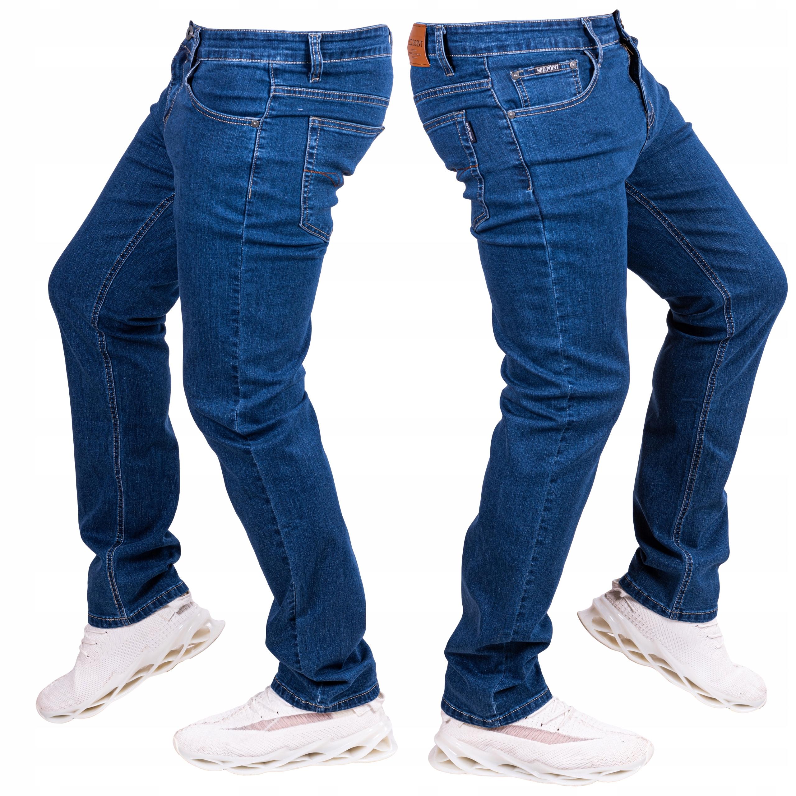 Spodnie JEANSOWE klasyczne proste TIMEO W34/L34