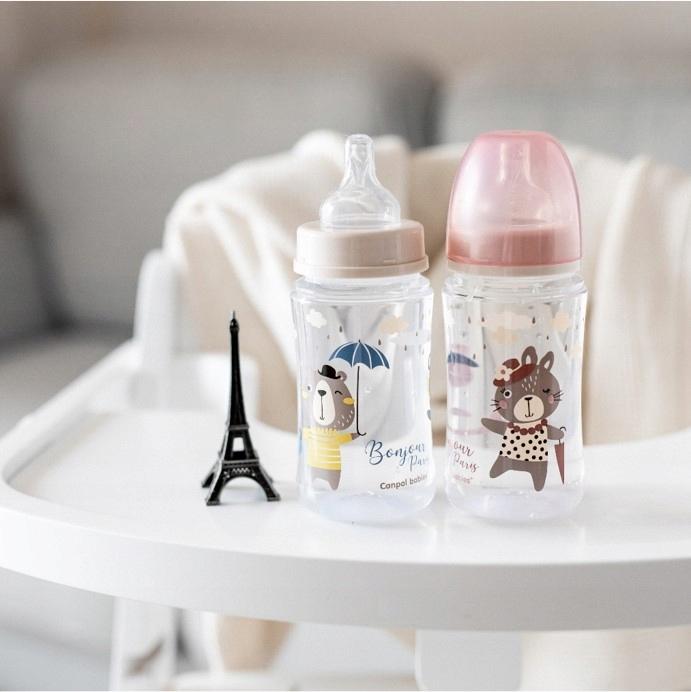 Canpol Butelka szeroka antyko. 240ml BONJOUR PARIS Marka Canpol Babies