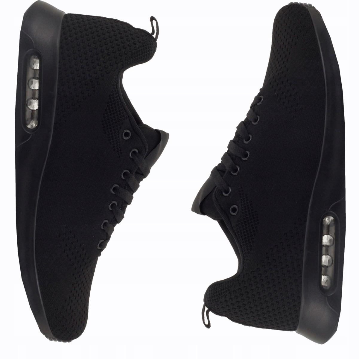 ADIDASY męskie SPORTOWE buty CZARNE do biegania