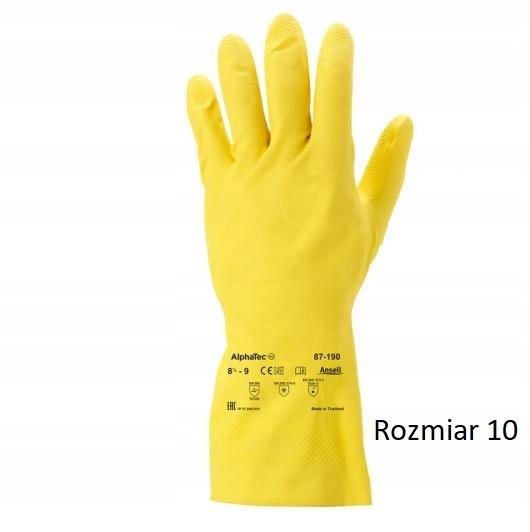 Rękawice gospodarcze rozmiar 10 ALPHATEC 87-190