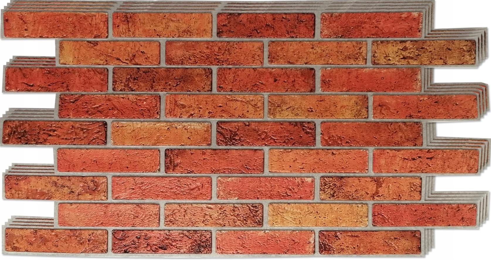 3D stenové panely PVC retro tehlová tehla 4 ks.