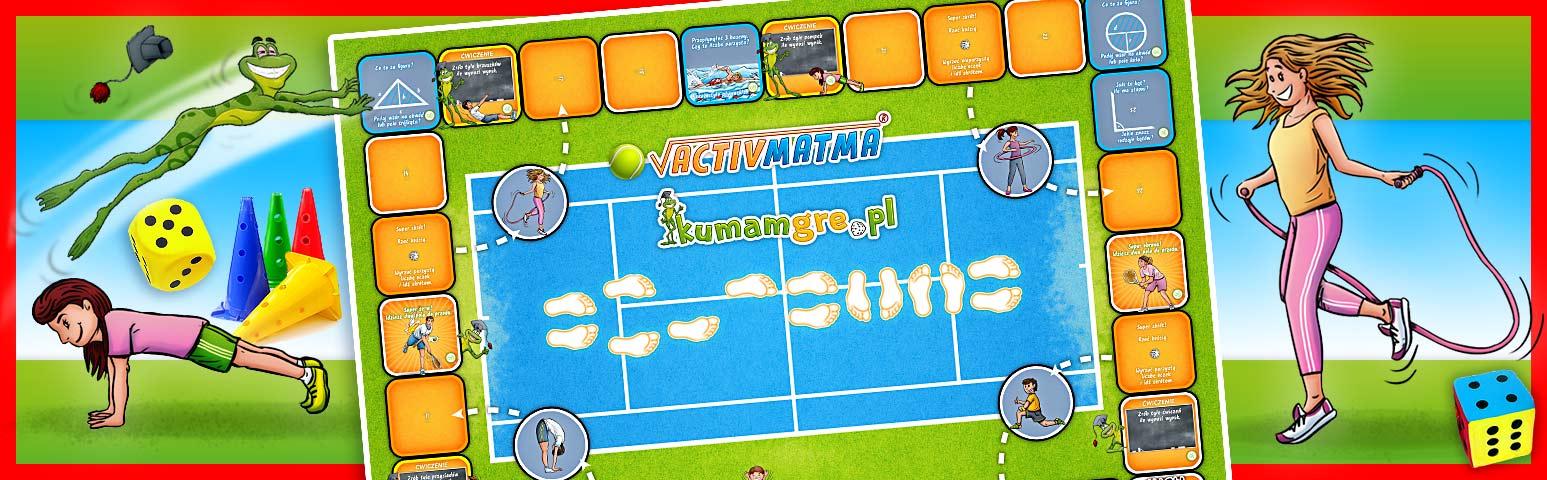 eko gra planszowa ACTIVMATMA tenis - kumamgre eco Płeć Chłopcy