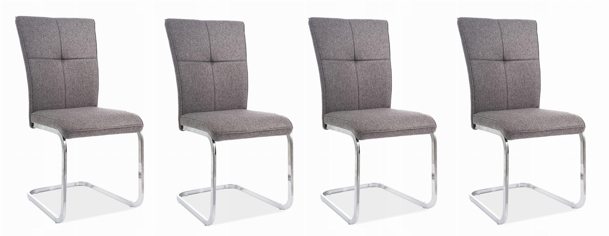 Stolička H190 kusy 4 šedá/chrome SIGNÁL
