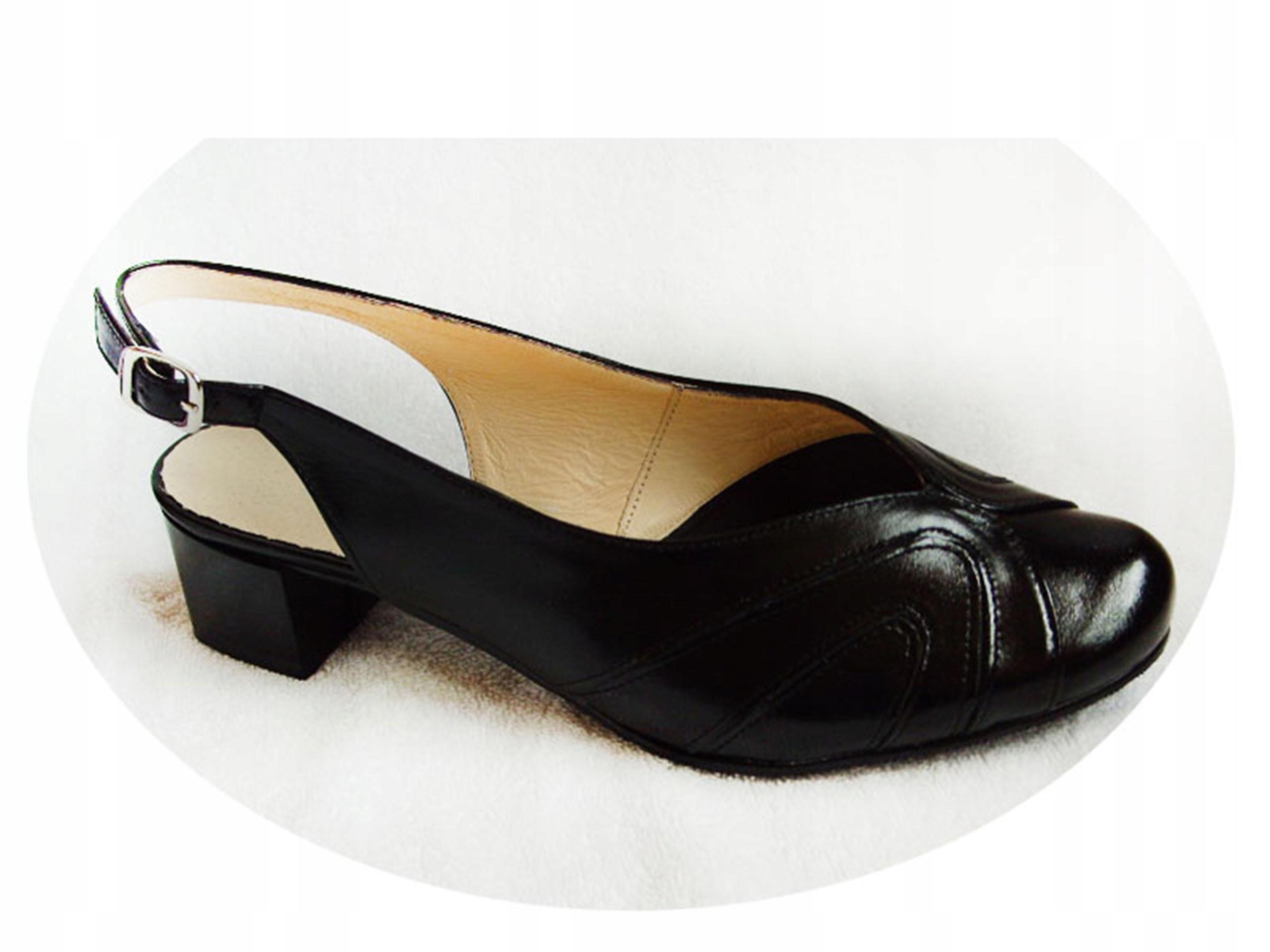 Skórzane sandały Tęgość H i G Haluksy 43