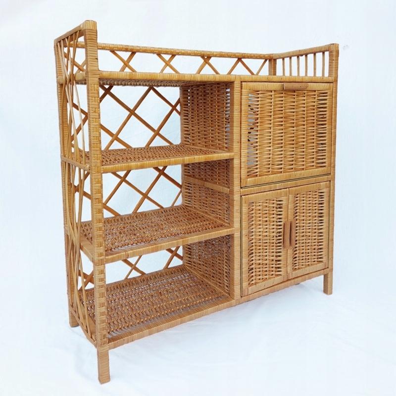 Плетеный шкаф книжный шкаф плетеный S057