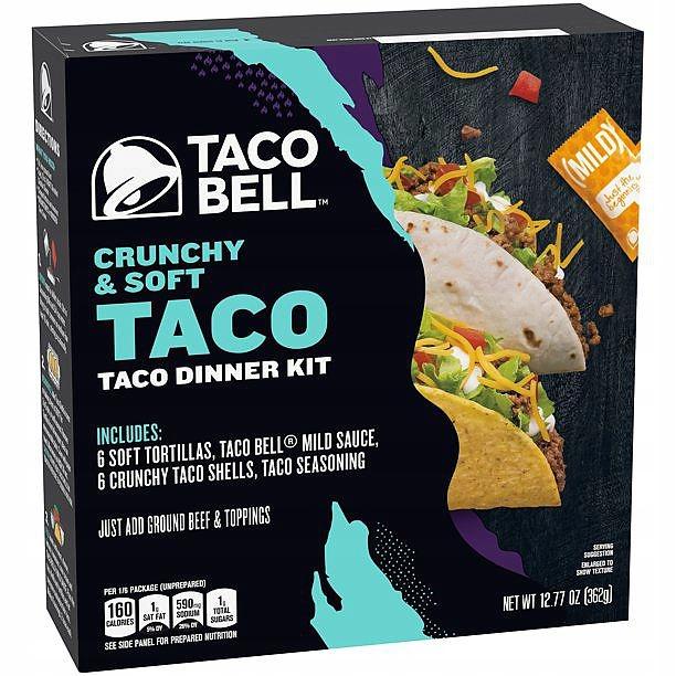 Тортильи Taco Bell Crunchy Soft Taco 414г из США