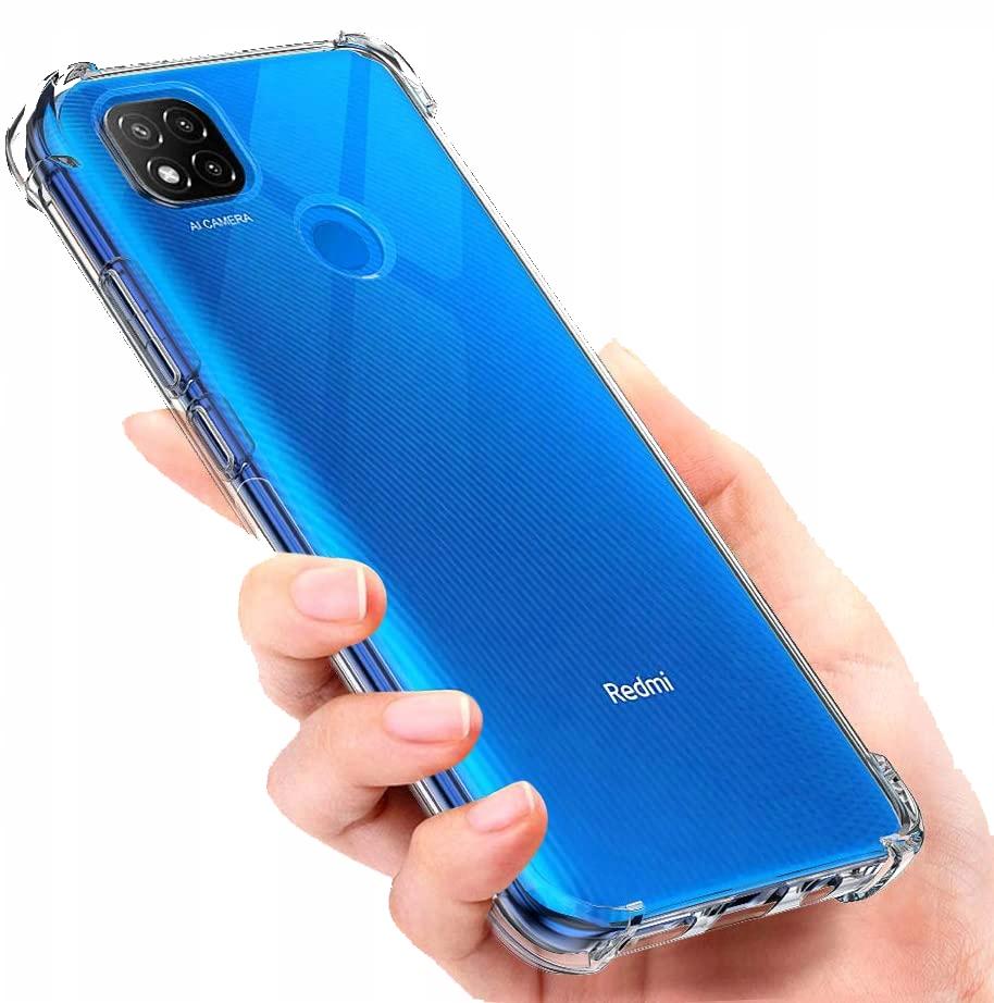 Etui do Xiaomi Redmi 9C Guma ANTI-SHOCK + Szkło 9H Producent INNY