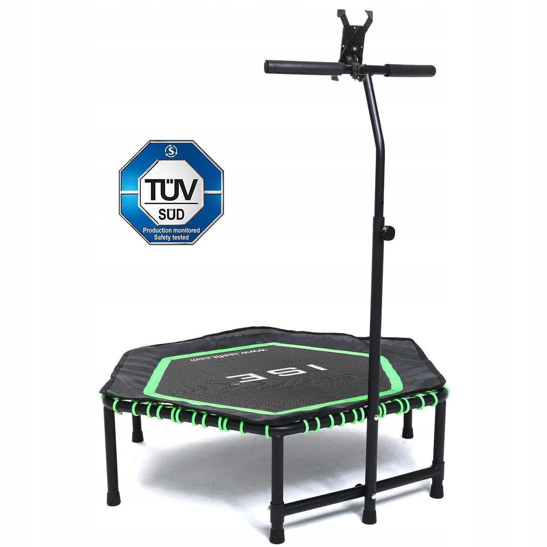 Fitness trampolína s držiakom na telefón, Ø122 cm