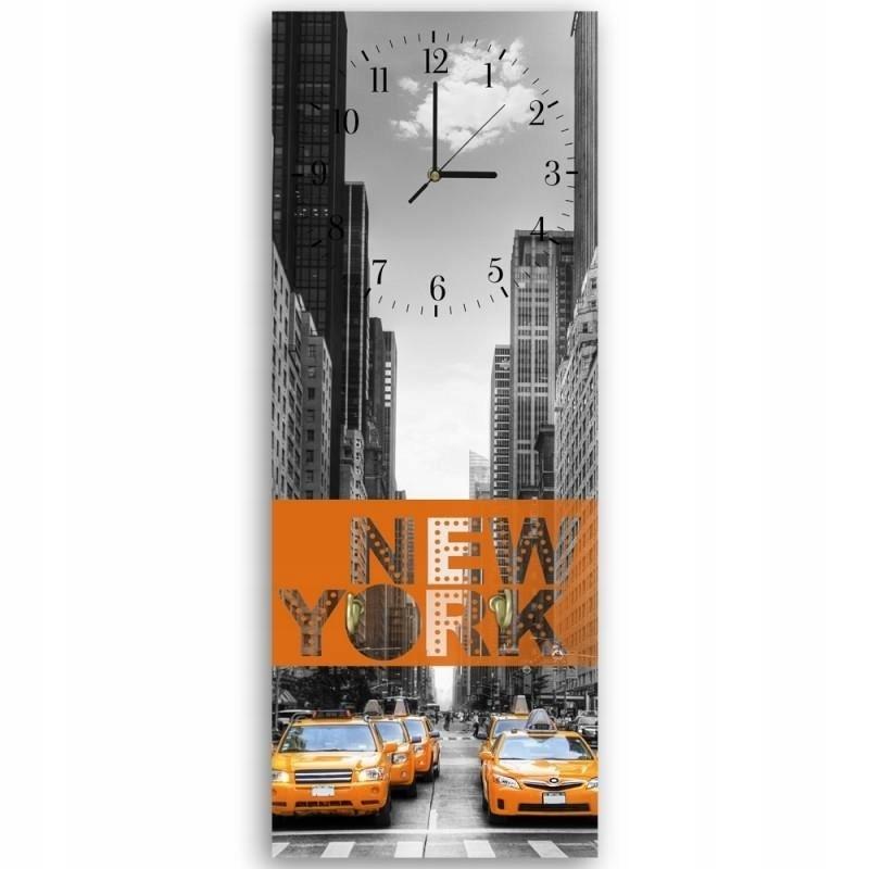"""Vešiak dekoratívne hodiny """" new York 40x118"""