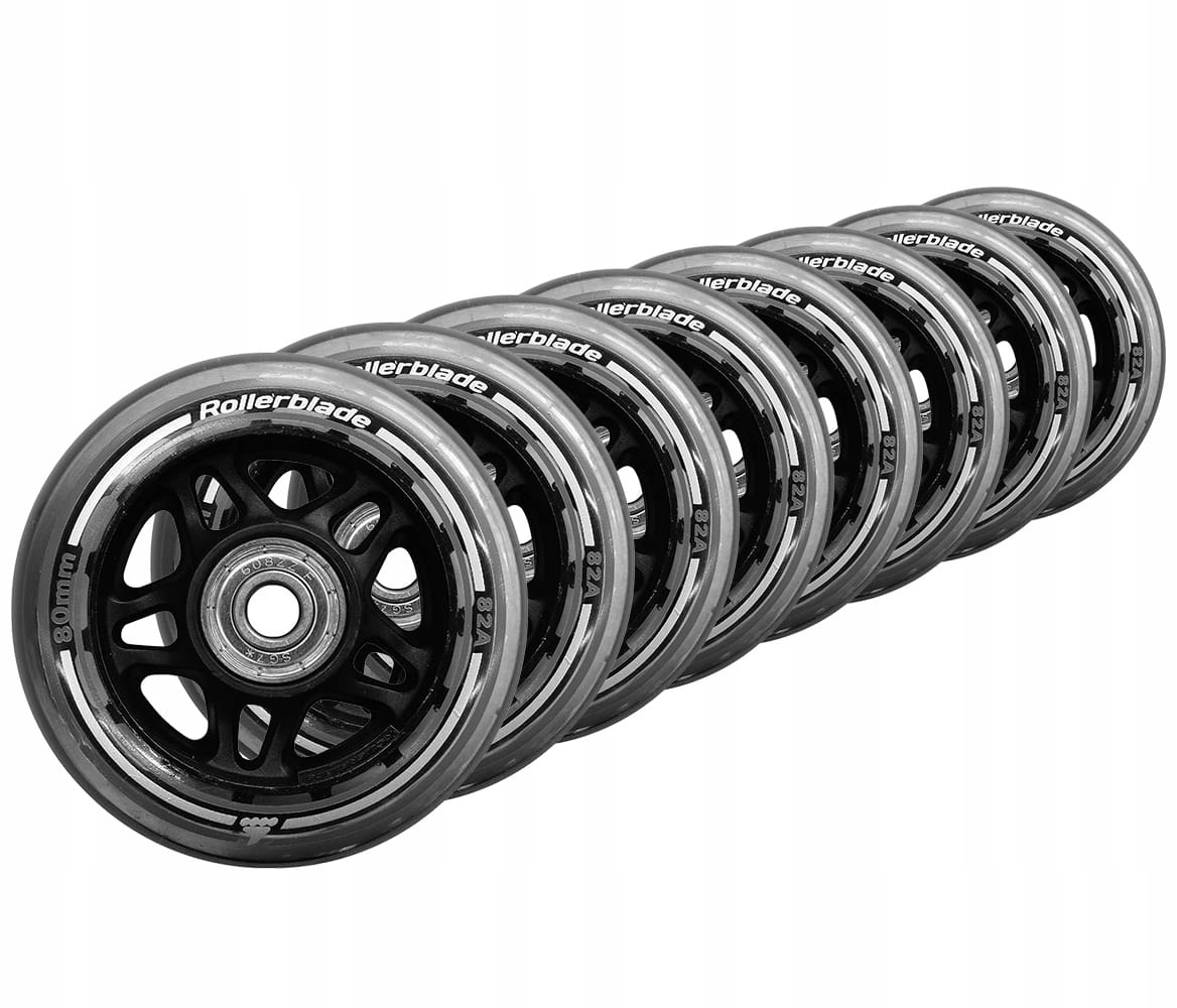 ROLLERBLADE колеса для ROLEK 80mm 82A + ŁOŻYSKA SG7