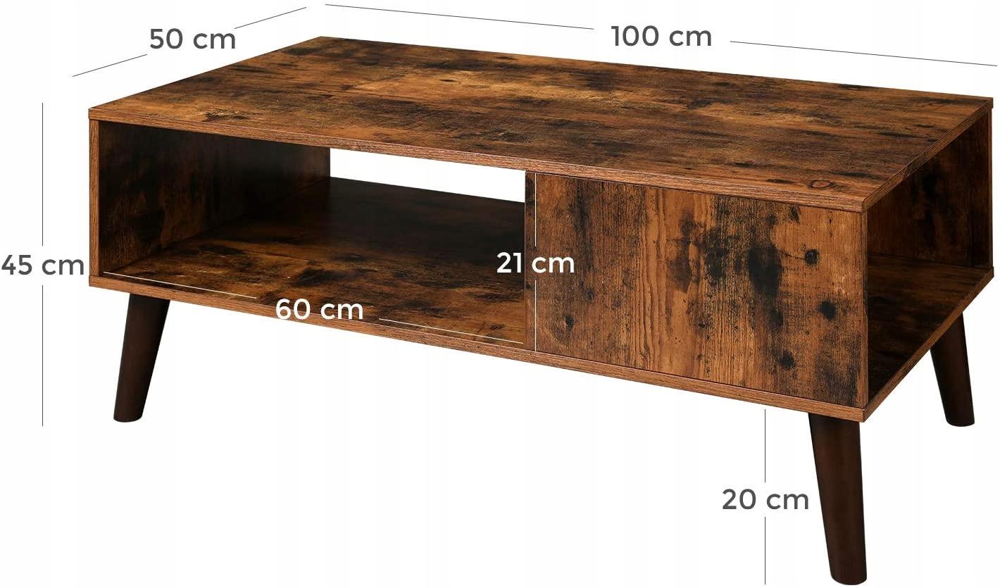 STOLIK KAWOWY RUSTYKALNY ŁAWA DO SALONU LOFTOWA Waga produktu z opakowaniem jednostkowym 16.2 kg