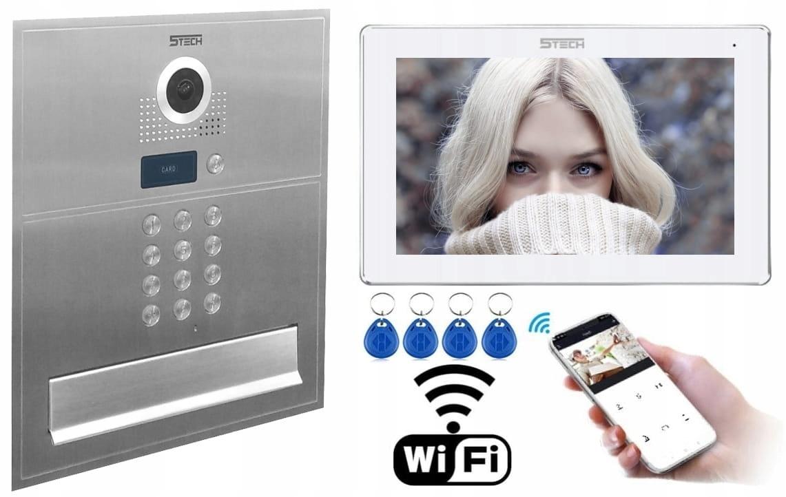 WIDEODOMOFON SKRZYNKA NA LISTY LCD 7 5tech IP Wifi