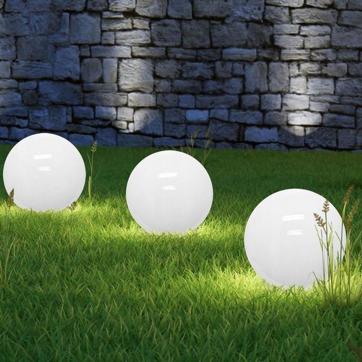 Lampa SOLARNA LED ogrodowa solar KULA 10 cm RGB Średnica/szerokość 10 cm