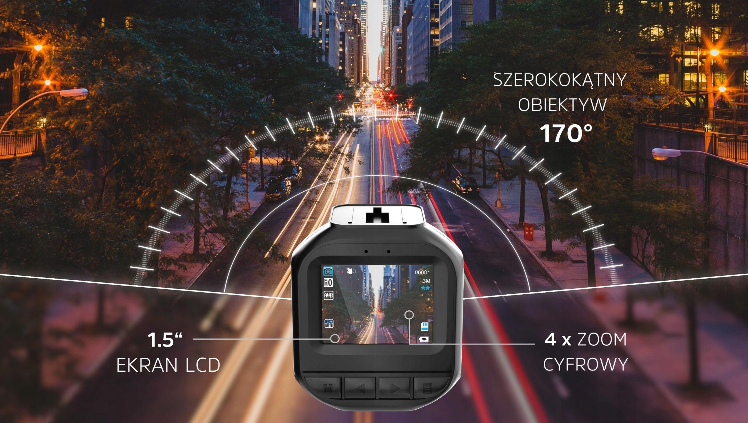 Kamera Samochodowa HD Wideo-Rejestrator Kamerka PL Model Roadcam 1CE