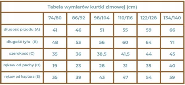 STROJMISIE Niebieska KURTKA ZIMOWA 122/128 Kolor granatowy niebieski