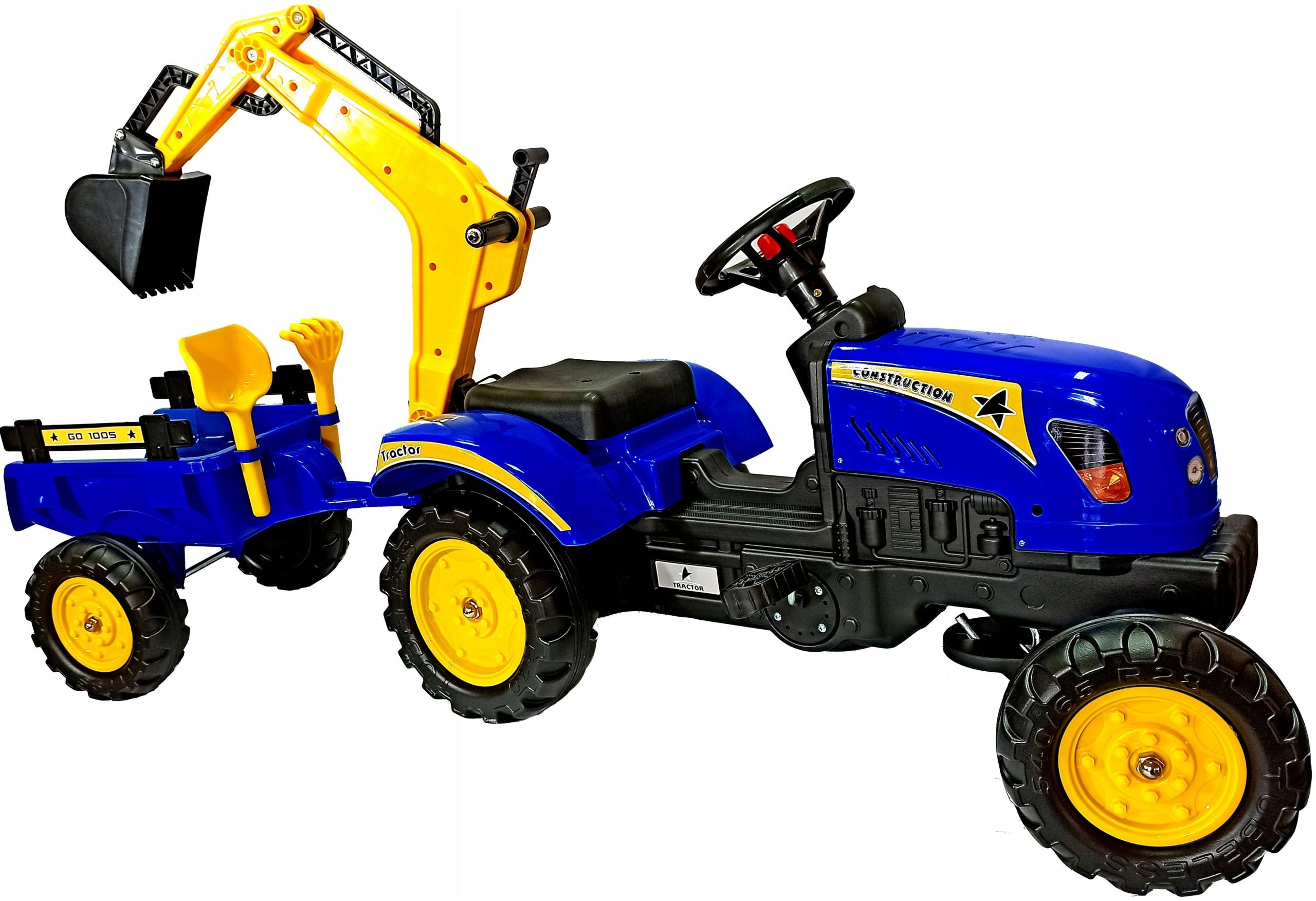 Šliapací traktor s prívesom a rýpadlom PROMO