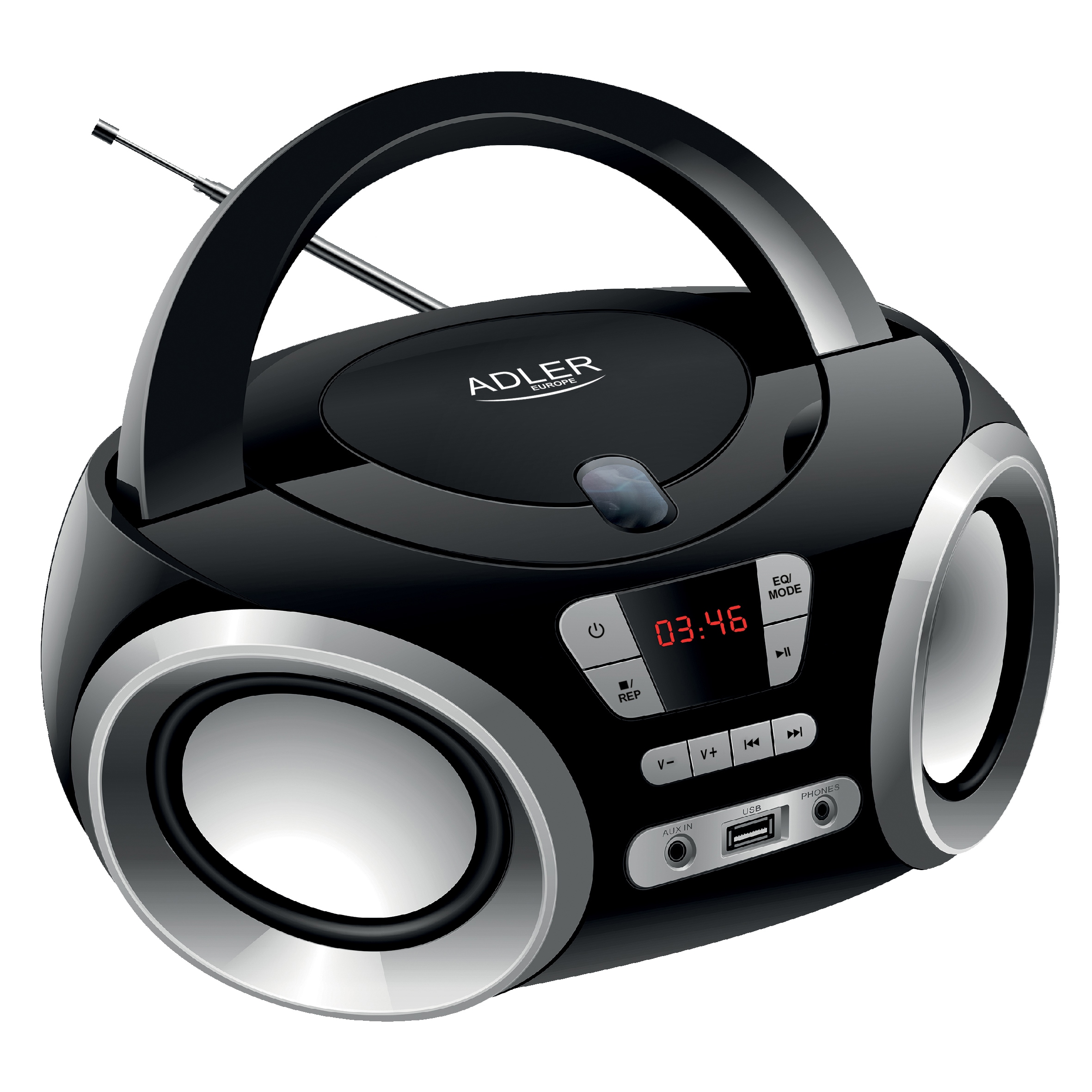 Бумбокс CD-MP3, USB, радио, AUX SPEAKER PLAYER